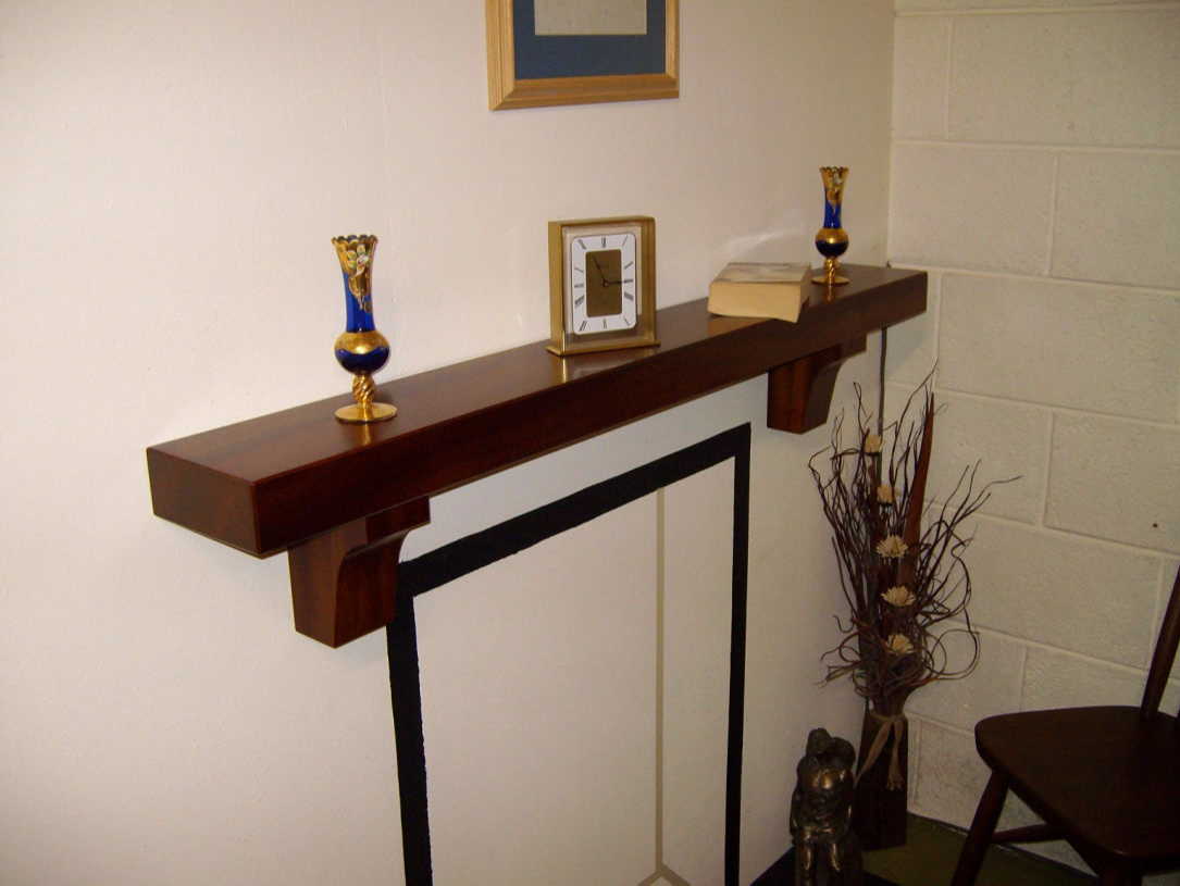 Mahogany Mantel Shelf