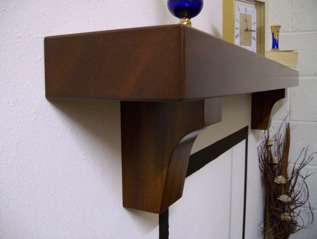 Mantel Shelf Mahogany